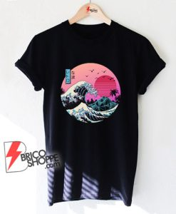 The great wave Kanagawa Cat Shirt – Parody Shirt – Funny Cat Lover T-Shirt