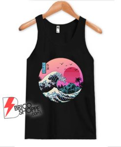 The great wave Kanagawa Retro Tank Top - Funny Tank Top On Sale