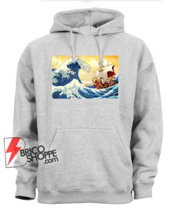 The great wave Kanagawa x Thousand Sunny - One piece Hoodie - Parody Hoodie - Funny Hoodie