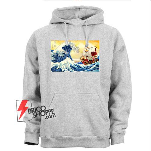 The great wave Kanagawa x Thousand Sunny - One piece Hoodie - Parody Hoodie - Funny Hoodie