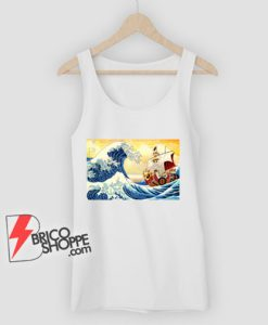 The great wave Kanagawa x Thousand Sunny - One piece Tank Top - Parody Tank Top - Funny Tank Top