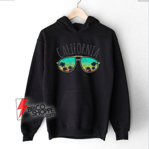 Vintage California Retro Surf Van Surfer Surfing Distressed Hoodie - Funny Hoodie On Sale
