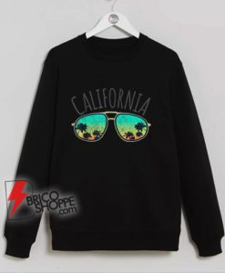 Vintage California Retro Surf Van Surfer Surfing Distressed Sweatshirt – Funny Sweatshirt On Sale