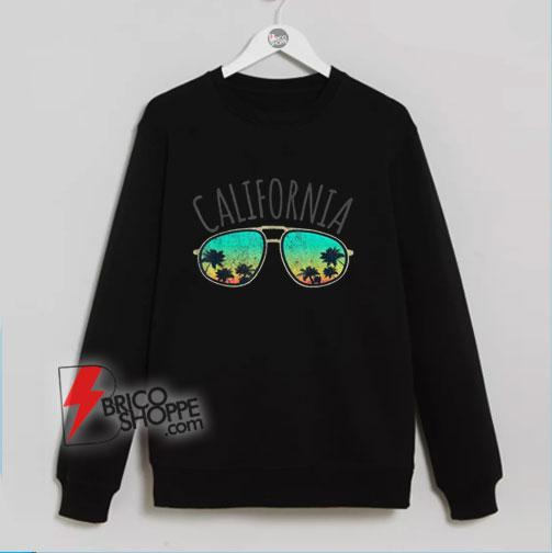 Vintage California Retro Surf Van Surfer Surfing Distressed Sweatshirt – Funny Sweatshirt On Sale