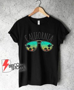 Vintage California Retro Surf Van Surfer Surfing Distressed T-Shirt - Funny Shirt On Sale