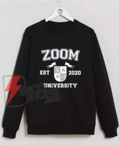 Zoom University Sweatshirt, Social Distancing Sweatshirt, Online School, Home Schooling, Class of 2020 Sweatshirt, Graduation Gift, Gift for Teacher
