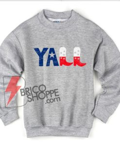 vintage YALL Sweatshirt - Funny Sweatshirt On Sale