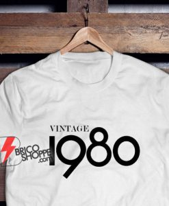 40th Birthday Gifts For Women & Men - Gift for man -Vintage 1980 Shirt - 40th Birthday Shirt - 40th Birthday Party tee - 40th Birthday T-Shirt