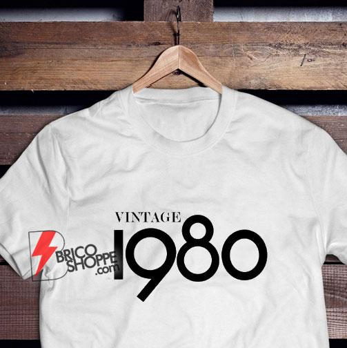 40th Birthday Gifts For Women & Men - Gift for man -Vintage 1980 Shirt - 40th Birthday Shirt - 40th Birthday Party tee - 40th Birthday T-Shirt
