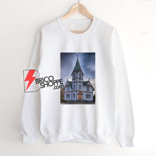 Husavik Church Iceland Sweatshirt - Funny Sweatshirt