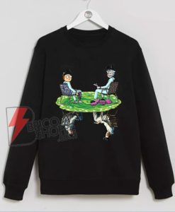 Rick and Morty Crossover Walter Jesse Breaking Bad Sweatshirt - Funny Sweatshirt On Sale
