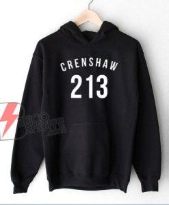213 Crenshaw LA Hoodie – Funny Hoodie On Sale