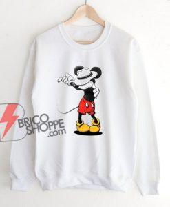 Mickey Mouse MJ Michael Jackson Sweatshirt - Parody Sweatshirt - Funny Disney Sweatshirt