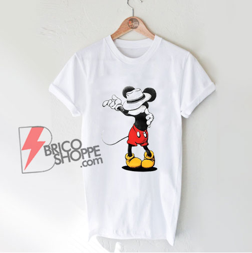 Mickey Mouse MJ Michael Jackson T-Shirt - Parody Shirt - Funny Disney Shirt