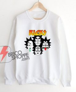 Rick And Morty Parody Kiss Band Sweatshirt - Funny Sweatshirt On Sale