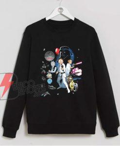 Rick and Morty star wars Sweatshirt