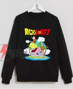 Rick and Morty x Dragon Ball Z Sweatshirt – Parody Sweatshirt – Funny Sweatshirt