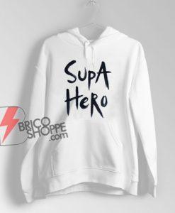 Supa hero Hand Painted Hoodie – Funny Hoodie