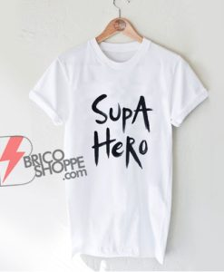 Supa hero Hand Painted T Shirt - Funny Shirt