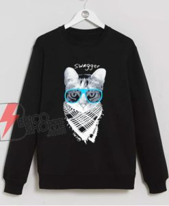 Swagger Cat Sweatshirt - Funny Sweatshirt On Sale