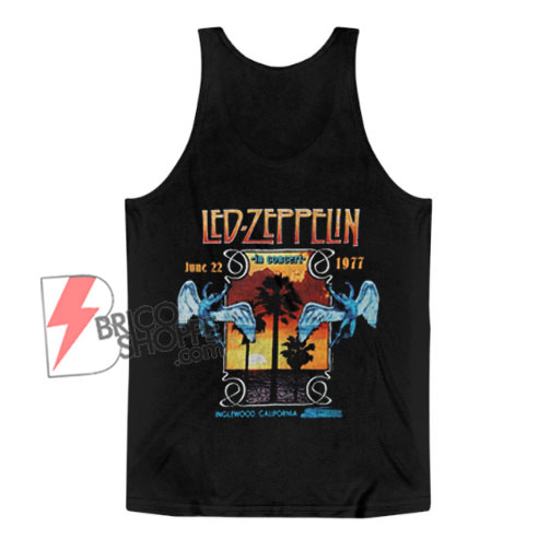 vintage Tank Top – Led Zeppelin In Concert Inglewood Tank Top – Funny Tank Top