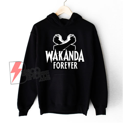 Black Panther Wakanda Forever Salute Hoodie – Funny Hoodie