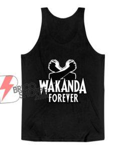 Black Panther Wakanda Forever Salute Tank Top - Funny Tank Top