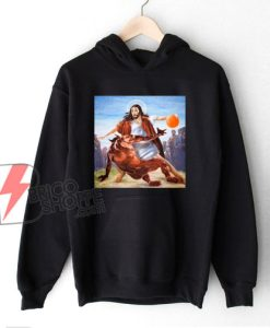 Jesus Crossing Up Satan Basketball Hoodie - Funny Hoodie