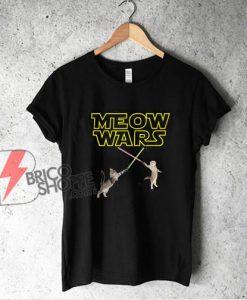 Meow Wars Funny Cat Lover Shirt - Parody Star Wars Shirt - Funny Shirt