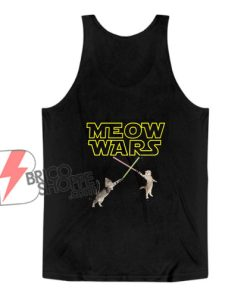 Meow Wars Funny Cat Lover Tank Top - Parody Star Wars Tank Top - Funny Tank Top