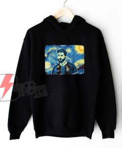 Messi Van Gogh Style Hoodie - Funny Hoodie On Sale