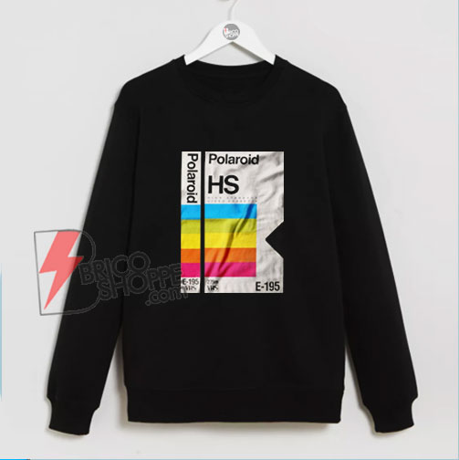 Polaroid HS E-195 Sweatshirt - Vintage Polaroid Sweatshirt - Funny Sweatshirt On Sale