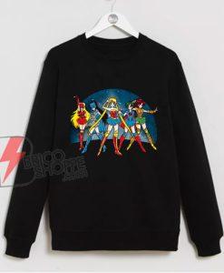 Sailor moon - Justice Moon Sweatshirt – Funny Sweatshirt On Sale