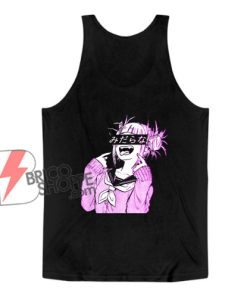 Waifu Anime Neko Vaporwave Glitch Manga Girl Tank Top - Funny Tank Top