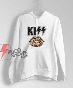 kiss leopard Hoodie - Funny Hoodie On Sale