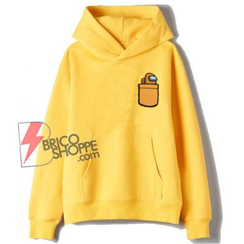 Among us Crewmate Orange in Pocket Hoodie - Funny Hoodie On Sale