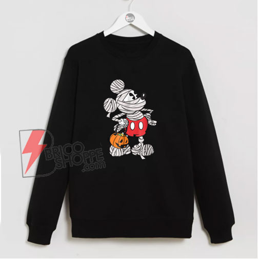 Disney Mickey Mouse Mummy Halloween Sweatshirt - Funny Sweatshirt