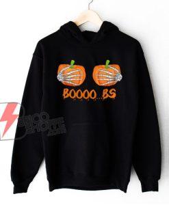 Funny Halloween booobs skeleton hands Hoodie - Funny Hoodie