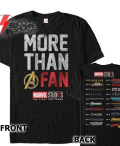 MARVEL Avengers Shirt - 10th Anniversary More Than a Fan T-Shirt - Funny Shirt