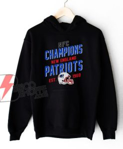 NFC Champions New England Patriots EST 1960 Hoodie - Funny Hoodie