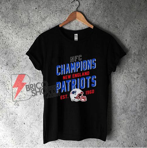 NFC Champions New England Patriots EST 1960 Shirt - Funny Shirt On Sale