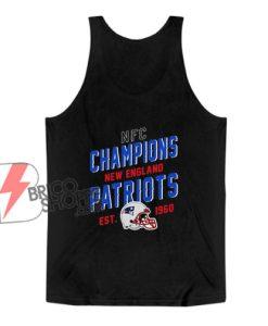 NFC Champions New England Patriots EST 1960 Tank Top - Funny Tank Top