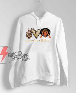 Peace Love Melanin African American Women Hoodie - Funny Hoodie