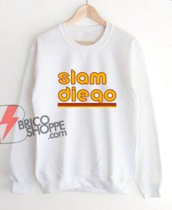 Slam Diego Baseball Sweatshirt - Funny Sweatshirt