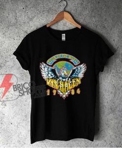1984 Van Halen Tour Of The World Shirt - Vintage Van Halen Shirt