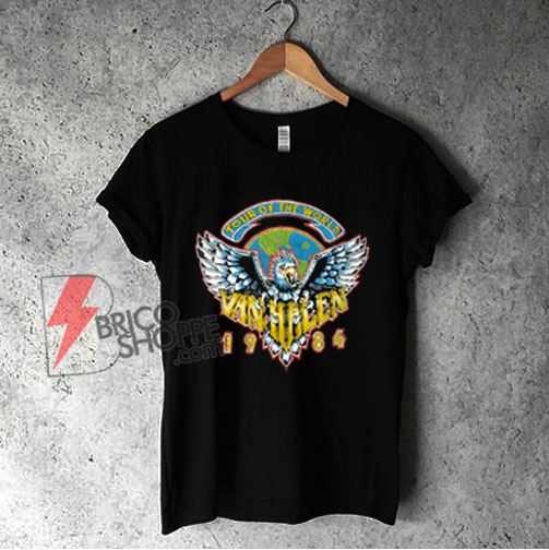 1984 Van Halen Tour Of The World Shirt - Vintage Van Halen Shirt