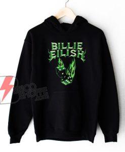 Billie Eilish Neon Green Hoodie – Billie Eilish Hoodie - Funny Hoodie