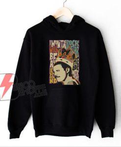 Queen Band Hoodie – Vintage Freddie Mercury Poster Hoodie – Funny Hoodie On Sale