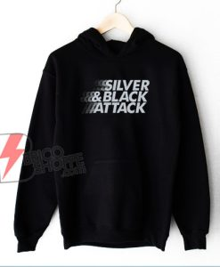 Silver & Black Attack Hoodie - Funny Hoodie On Sale
