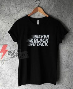 Silver & Black Attack T-Shirt - Funny Shirt On Sale